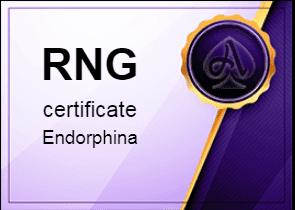 certificate Endorphina Azino777